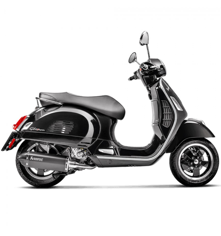 akrapovic vespa gts gtv 125 250 300 slip on ss. Black Bedroom Furniture Sets. Home Design Ideas