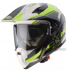Caberg - Xtrace SPARK White/Anthracite/Yellow Fluo