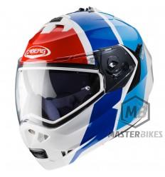 Caberg - Duke II Impact White Metal/Red/Blue/Light Blue